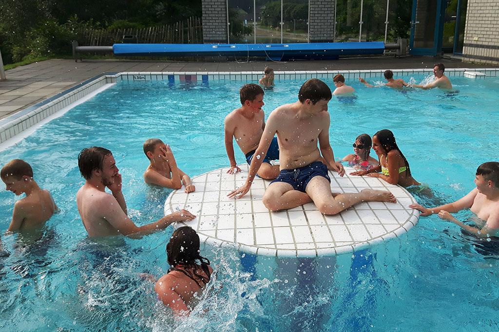 computerkamp zwembad